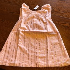 NWT Old Navy Girls Pink and Gold Flutter Dress